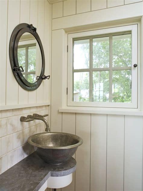 porthole window medicine cabinet nautical interior
