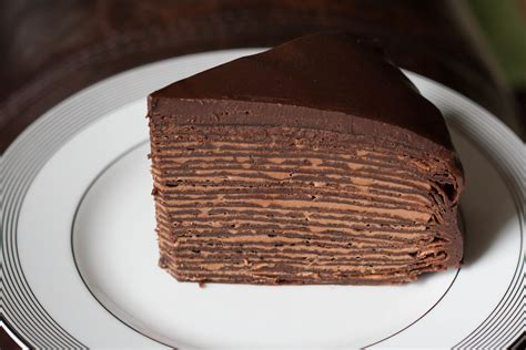 chocolate crepe cake easter brunch