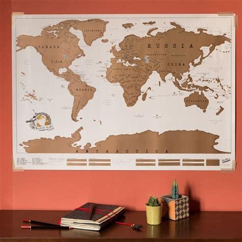 carte du monde 224 gratter nature d 233 couvertes