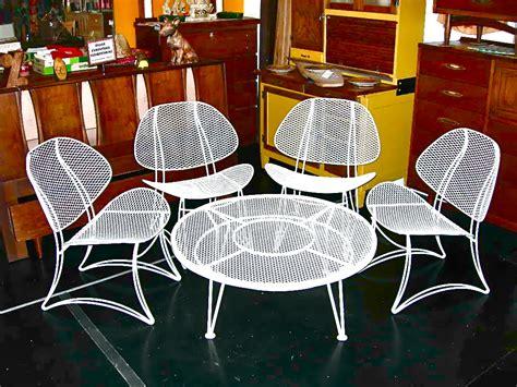 vintage homecrest salterini wrought iron clamshell 5