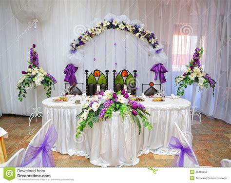 jeunes mari 233 s de d 233 coration de table de mariage photo stock image 46488860