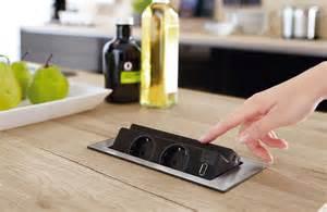 prise electrique plan de travail cuisine 2 pour montage sur le plan de travail 007989 look