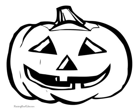 Halloween Pumpkin Coloring Photos