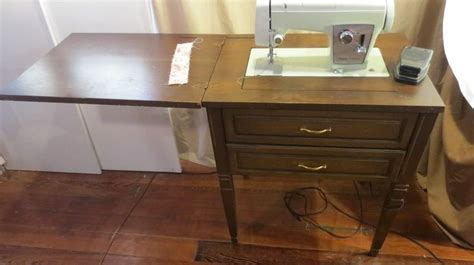 vintage sears kenmore cabinet sewing machine table model 158 17501 sn 12011 models tables and