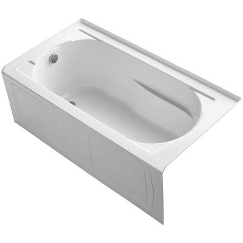 lyons industries elite 4 5 ft right drain soaking tub in