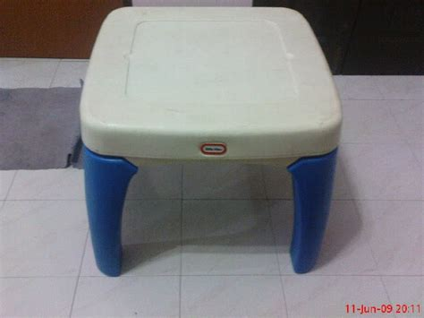 colourful tikes table with drawer sold