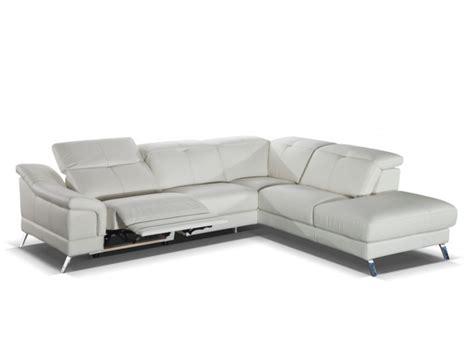 canap 233 d angle relax en cuir sardaigne ii ivoire ou noir