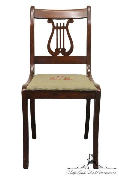 chair duncan phyfe mahogany harp lyre back chair ebay
