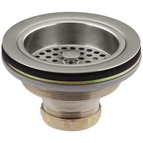 Kohler Sink Strainer Brushed Nickel by Kohler Duostrainer 4 1 2 In Sink Strainer In Vibrant