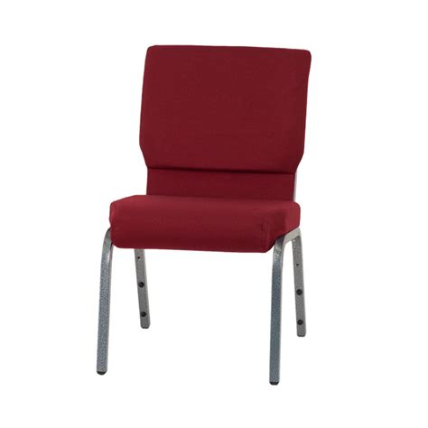 hercules series 18 5 w stacking church chair in burgundy fabric silver vein frame xu ch
