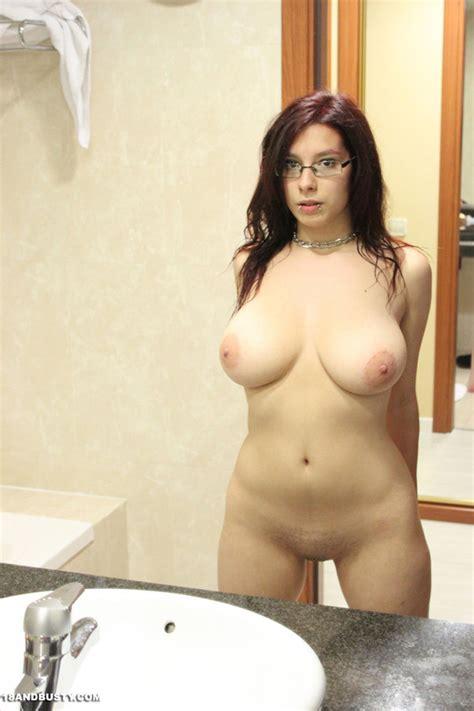 super hot red hair model with glasses displ xxx dessert