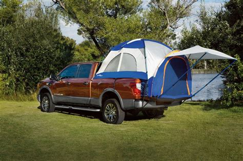 Nissan Frontier Bed Tent by Nissan Showcases Accessories For Titan Xd At Show