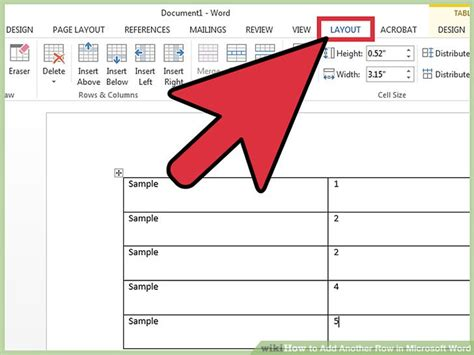 How To Add Another Row In Microsoft Word 11 Steps (with Pictures