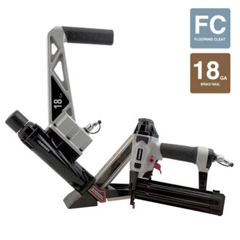 husky pneumatic 18 engineered and hardwood flooring nailer and brad nailer combo