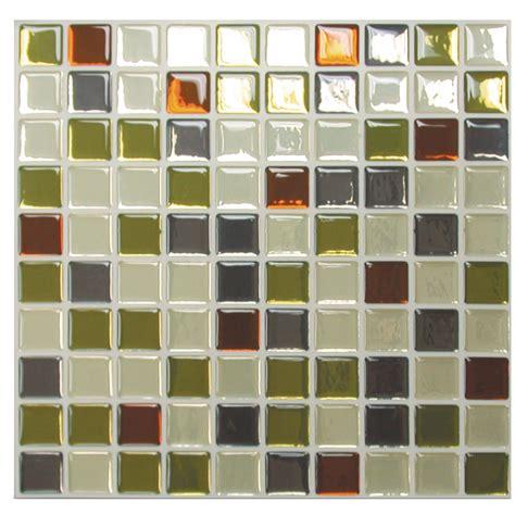 mosaik 9 85 quot x 9 85 quot vinyl peel stick mosaic tile in