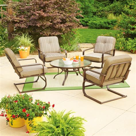 mainstays lawson ridge 5 patio conversation set seats 4 walmart