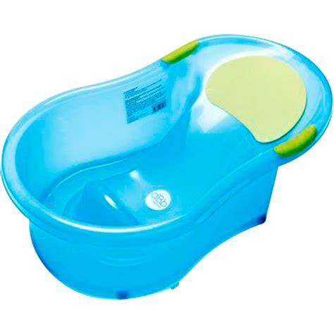 Baignoire Bébé 06 Mois + Transat Intégré Bleu Translucide