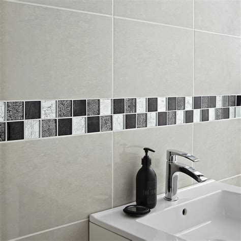 mosa 239 que mur glass select mix gris leroy merlin