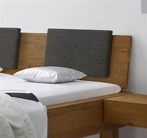 Polster Für Bett Kopfteil : rustikales bett aus wildeiche in balkenoptik kasos ~ Markanthonyermac.com Haus und Dekorationen