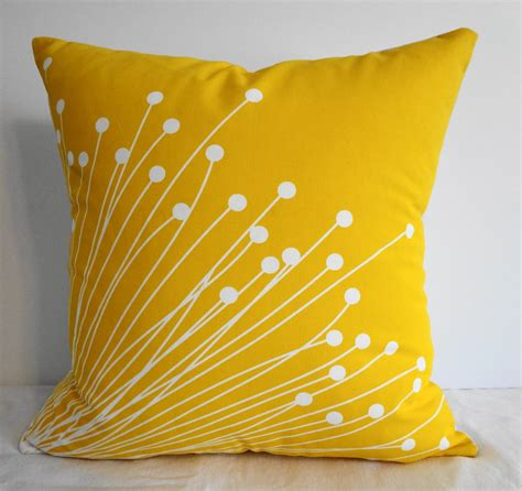 starburst yellow pillow covers decorative throw pillow