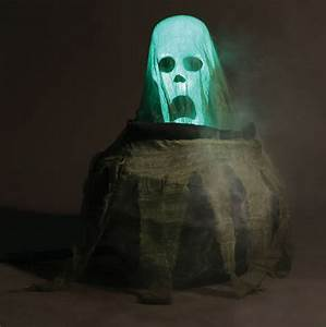 New Cauldron Spirit Animated Halloween Prop moving ghost ...