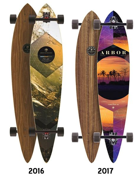 arbor timeless walnut pin longboard deck deck only boards on nord