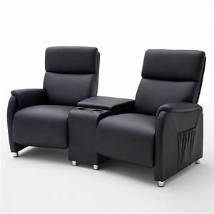 Couch Mit Sessel : kino 2er sessel dani cinema sofa lederlook schwarz mit getr nkehalter ebay ~ Markanthonyermac.com Haus und Dekorationen