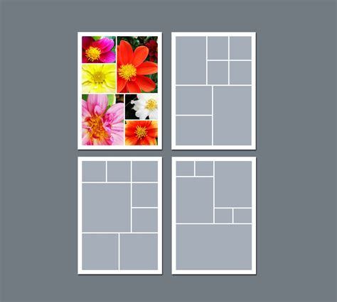 Instant Download Photo Collage Template Digital Template