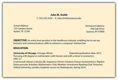 Career Objective On Resume Template  Resume Builder