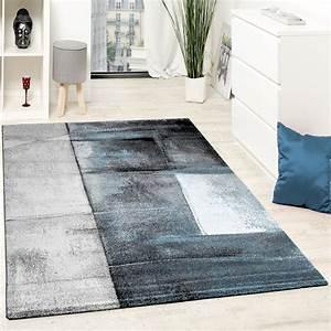 Teppich Wohnzimmer Grau : designer teppich modern kurzflor wohnzimmer trendig meliert t rkis creme grau wohn und ~ Markanthonyermac.com Haus und Dekorationen