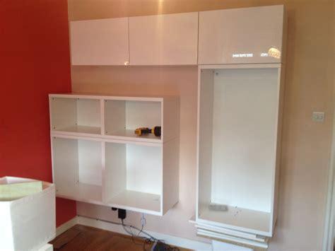 Ikea Besta Wall Storage Unit Installation  Flat Pack Dan