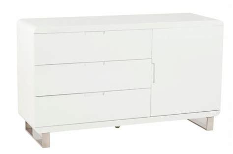 meuble laqu 233 blanc 3 tiroirs paulo meubles de rangement pas cher