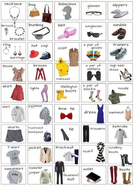 Clothes  #vocabulary #english  Visual Vocab Clothes People Shopping  Pinterest  Esl, Clothes