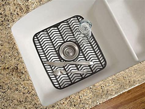 rubbermaid antimicrobial sink protector mat black waves small fg129506bla ebay