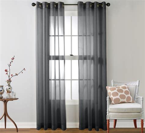 2 sheer window curtain grommet panels ebay