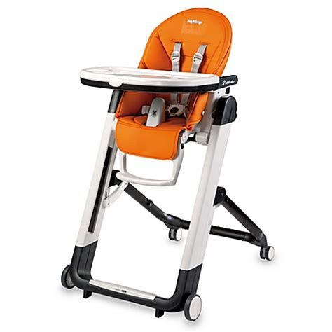 peg perego siesta high chair in arancia orange buybuy baby