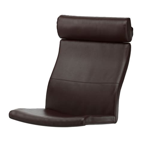 po 196 ng chair cushion glose brown ikea
