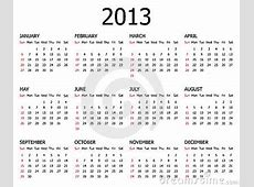 2013 Calendar Template Stock Photography Image 22246782