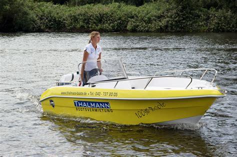 Motorboot Mieten Ohne Führerschein by Thalmann 15 Ps F 252 Hrerscheinfreies Motorboot Galia 475 Mieten