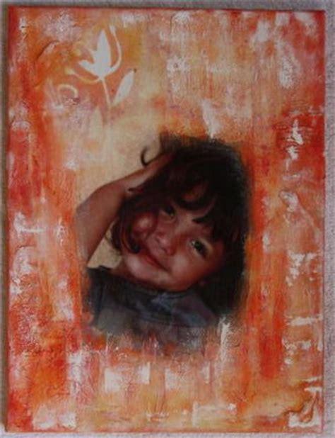 transfert sur toile et peinture acrylique chriscrap13