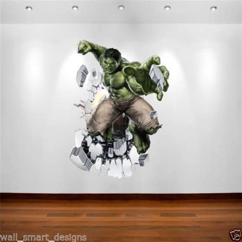 details about marvel wall sticker decal transfer boys bedroom