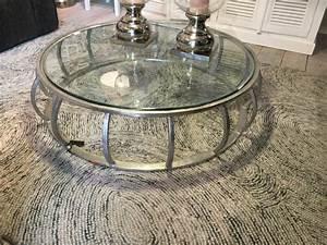 Tisch Glas Metall : couchtisch silber glas metall tisch metall und glas durchmesser 133 cm ~ Markanthonyermac.com Haus und Dekorationen