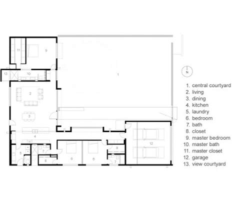 modern house plans with courtyard modern courtyard house plans mexican style courtyard house