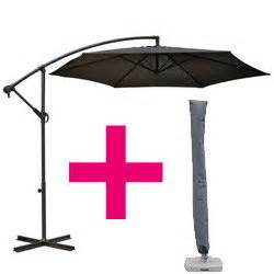 parasol d 233 port 233 guadeloupe 3m gris ardoise avec housse oogarden