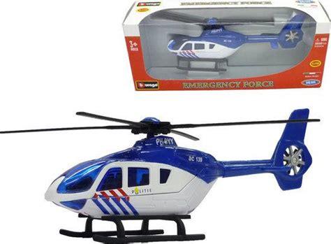 Speelgoed Helikopter by Bol Burago 1 50 Politie Helikopter