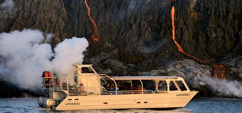 Lava Boat Tour Hawaii by Volcano Boat Tours Volcano Activity In Hawaii National Park