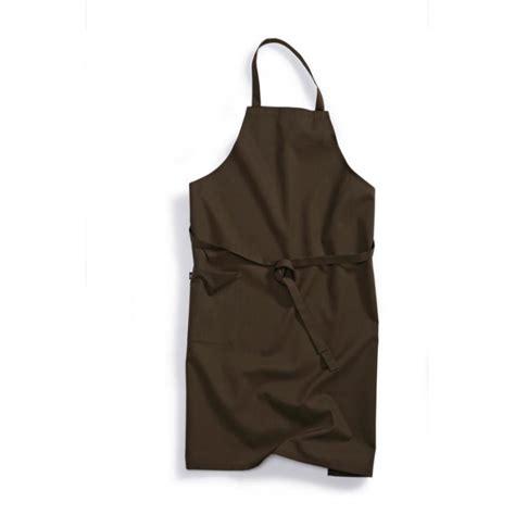 tablier de cuisine professionnel 224 bavette marron