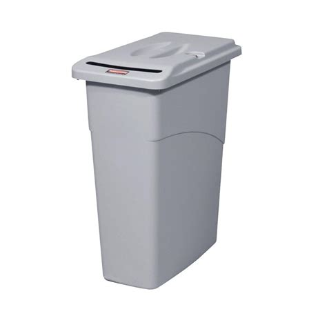 rubbermaid commercial products slim jim 23 gal grey