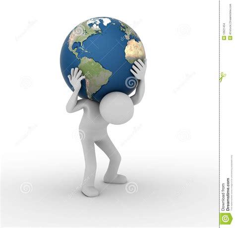en portant le monde aimez l atlas images stock image 12621454