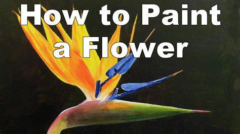 Bird Of Paradise Flower Painting  Wwwimgkidcom  The